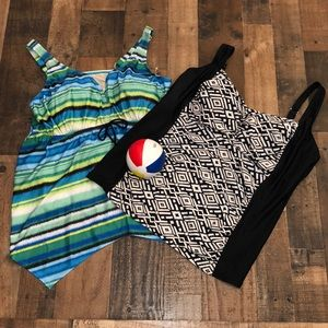 Lot of 2! Tankini tops from Catherine's!